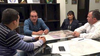 El diputado Gerardo Terraz, junto al director de Protección Civil, Rubén Mena, y el secretario de Gobierno, José Luis Lacroutz, coordinaron el plan contingencia comunitaria ante el alerta meteorológico.