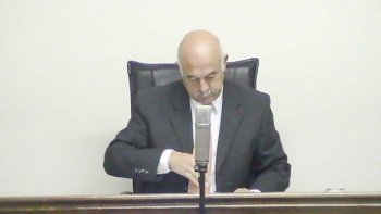 Daniel Camilo Pérez, juez penal de Sarmiento.