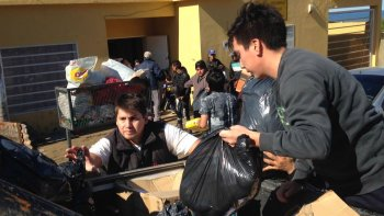 Entregaron las donaciones a afectados por el temporal