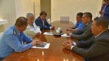 El gobernador valoró especialmente el papel que desempeñó la Policía durante el temporal de Comodoro Rivadavia.