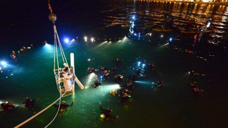 Se realizó una nueva edición del Vía Crucis submarino