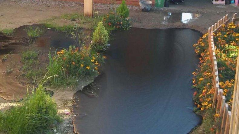 El petróleo que afloró en la vivienda de Kilómetro 8.