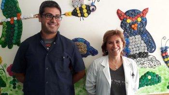 El referente de Donación de CPH del Hospital de Puerto Madryn, Diego Bulacio y la coordinadora del Servicio de Hemoterapia, Silvina Fleischer.