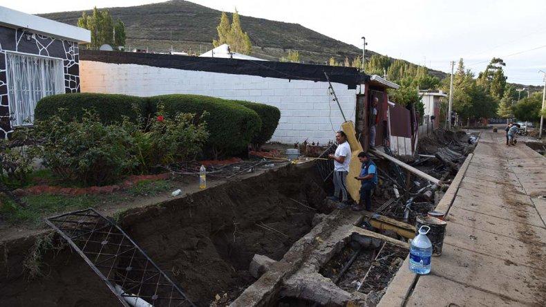 Laprida es uno de los barrios de la zona norte cuya estructura edilicia y calles resultaron más castigadas por el temporal.