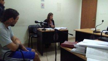 Gustavo Ñancucheo, ayer en Tribunales, donde rindió cuentas de su última acción delictiva.