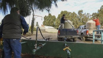 por roturas de canos menores hay sectores sin agua