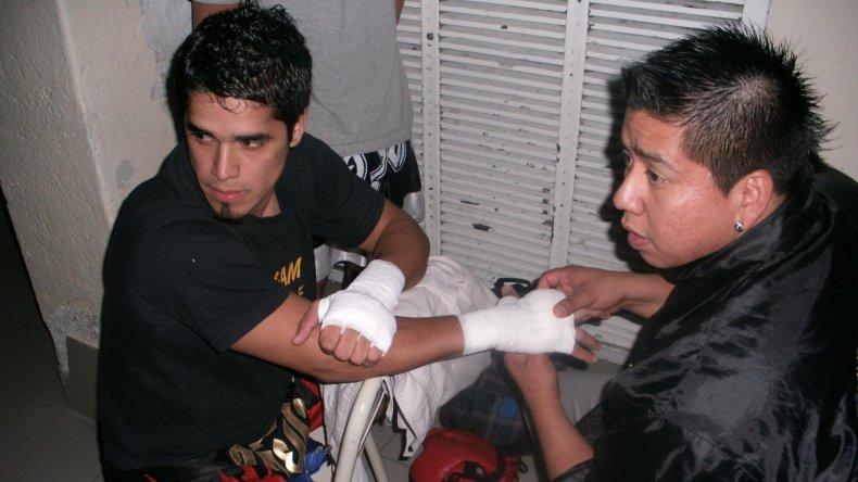 Miguel Poveda y Marcos Antileo