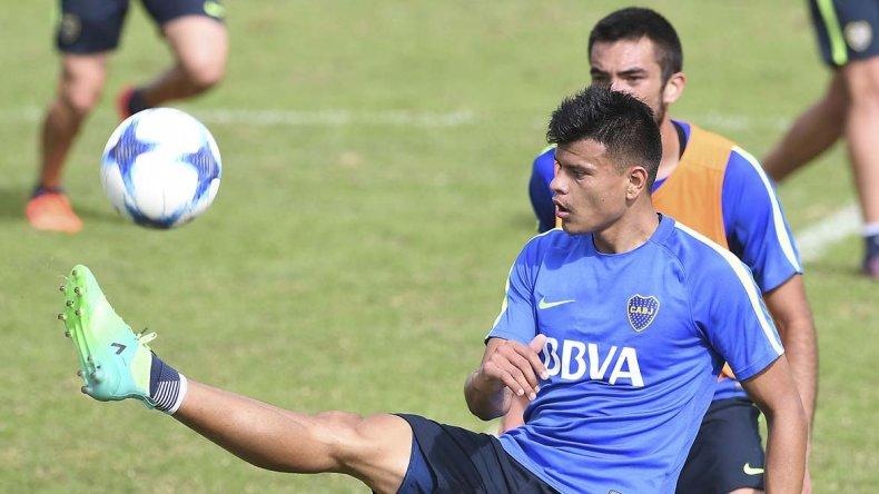 Walter Bou podría ser titular en el partido que Boca jugará el domingo ante Atlético de Rafaela.