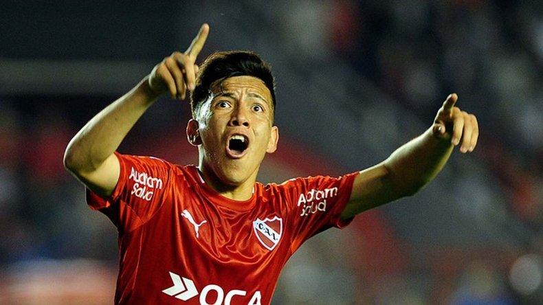 Ezequiel Barco será esta noche titular en la delantera de Independiente.