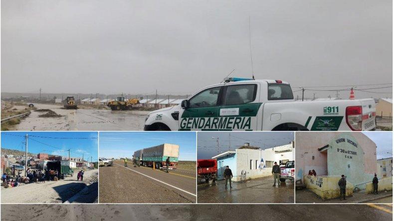 Gendarmería sigue con las tareas luego del temporal