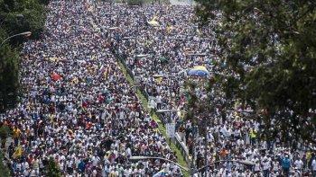 Grupos antichavistas se congregaron en diferentes puntos del país contra el gobierno de Maduro.