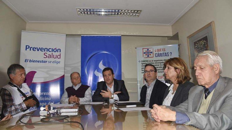 El Grupo Sancor Seguros ayer entregó donaciones a Caritas.
