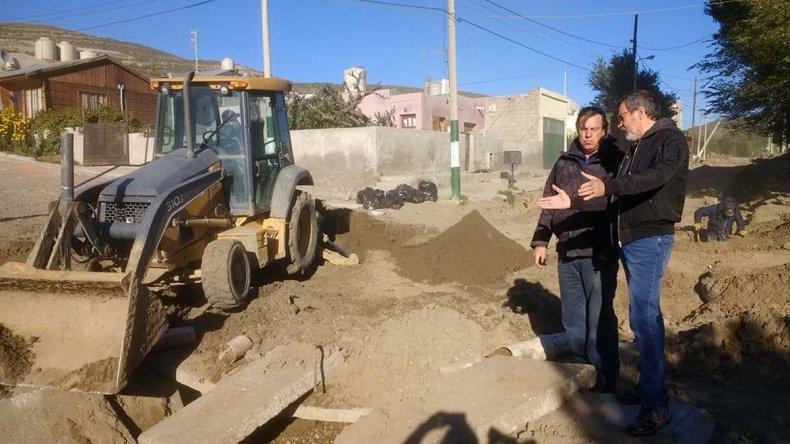 El secretario municipal de Infraestructura y Obras Públicas recorrió ayer el sector.