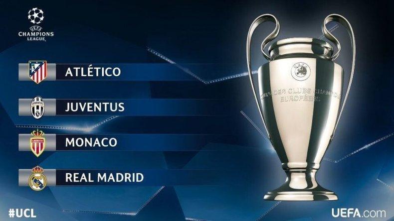 Así quedaron las semifinales de la Champions