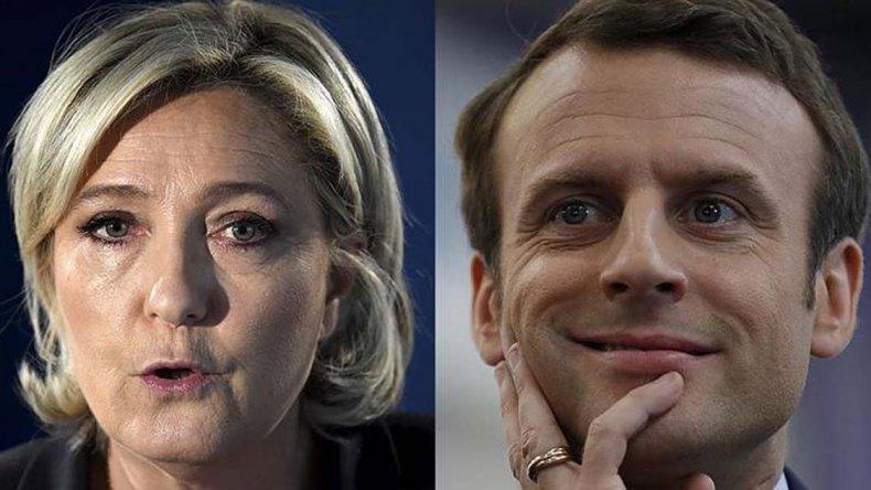 Le Pen y Macron llegan con las mejores posibilidades para acceder a segunda vuelta.