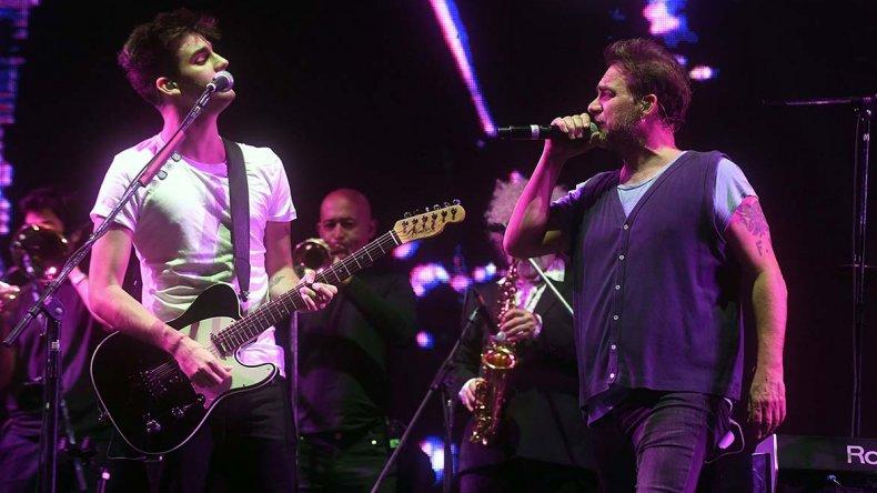 Los Fabulosos Cadillacs tocaron ante más de 30 mil personas en el festival a beneficio por los damnificados del temporal.