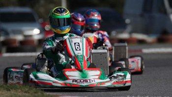 Martín Visser, con un Tony Kart, fue protagonista en el kartódromo de Buenos Aires.