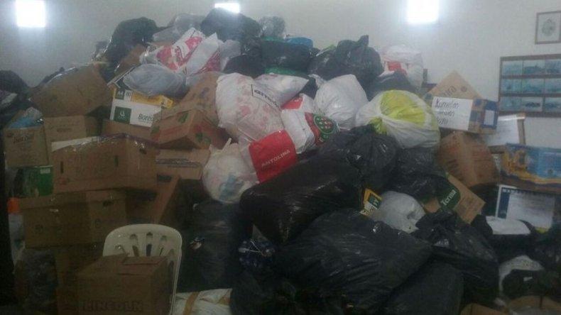 Veteranos de guerra de Bahía Blanca juntan donaciones para Comodoro