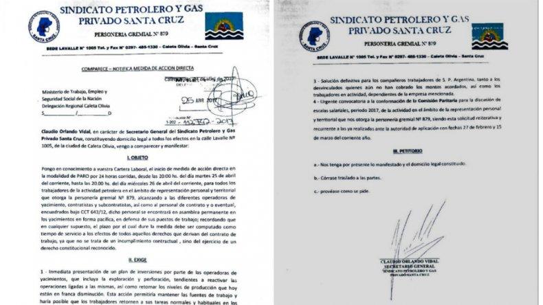 Petroleros de Santa Cruz iniciaron el paro por 24 horas