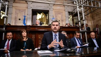 El jefe de Gabinete, Marcos Peña Baun, brindó un nuevo informe de gestión ante la Cámara de Senadores de la Nación.