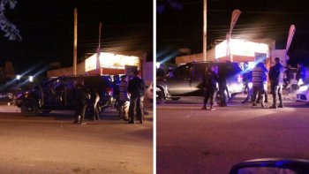dirigente de uocra quedo detenido tras chocar autos estacionados