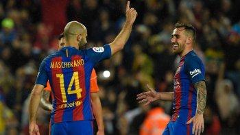 barcelona aplasto a osasuna con dos goles de messi