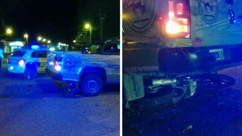 Una camioneta impactó a un motociclista en Palazzo