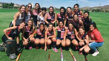 Las chicas de Comodoro RC están listas para disputar el torneo de hóckey solidario.