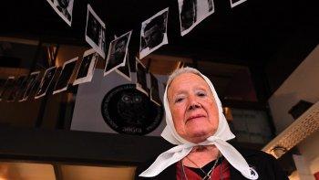 Nora Cortiñas, integrante del grupo que constituyó las Madres de Plaza de Mayo.