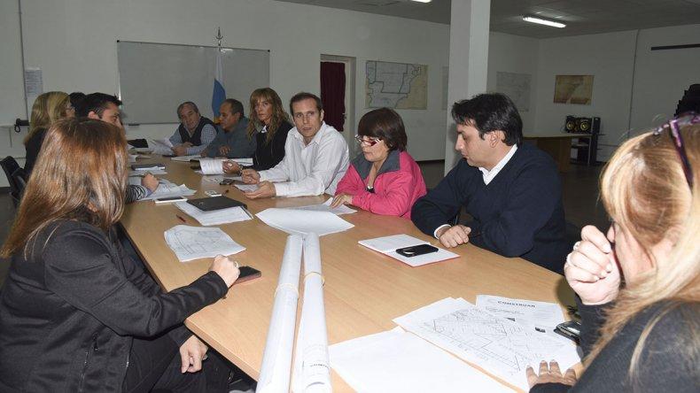 La reunión que la Secretaría de Recaudación mantuvo la semana pasada con los concejales.