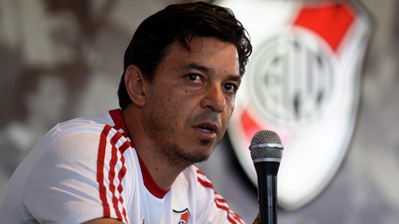 Marcelo Gallardo habló de todo ayer en la conferencia de prensa que brindó con miras al partido frente a Temperley que se jugará mañana.