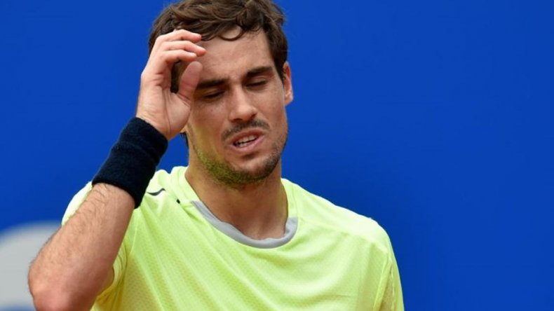 Guido Pella se lamenta al perder el domingo la final del ATP 250 de Munich.