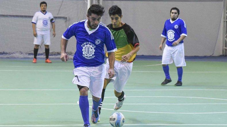 En el Complejo Huergo se desarrolló gran parte de la jornada de fútbol de salón.