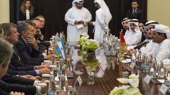 El presidente Mauricio Macri se reunió con el primer ministro de Emiratos Árabes Unidos.
