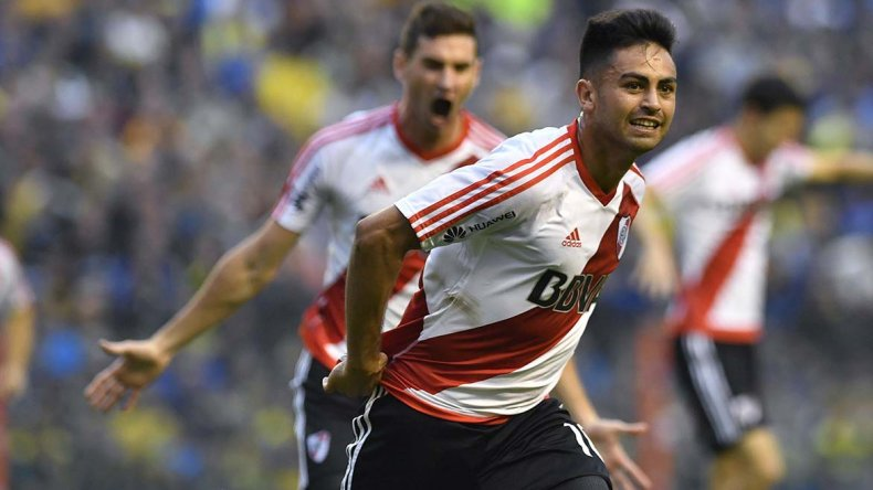 Gonzalo Martínez marcó un golazo para que River arranque ganando ayer en la Bombonera.