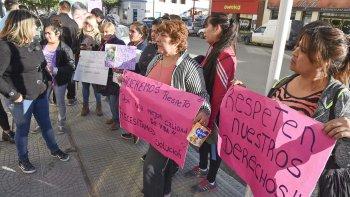 Una protesta reciente de madres de personas que conviven con alguna discapacidad para que se atiendan los derechos de sus hijos.