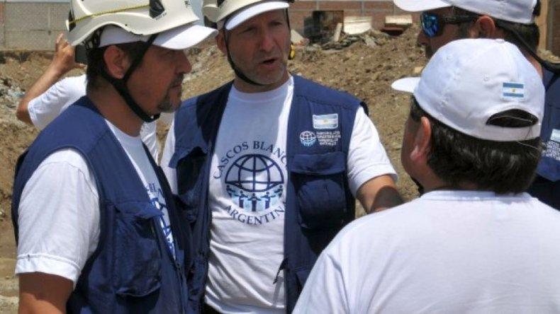 Llegaron Cascos Blancos a Comodoro para continuar con la ayuda