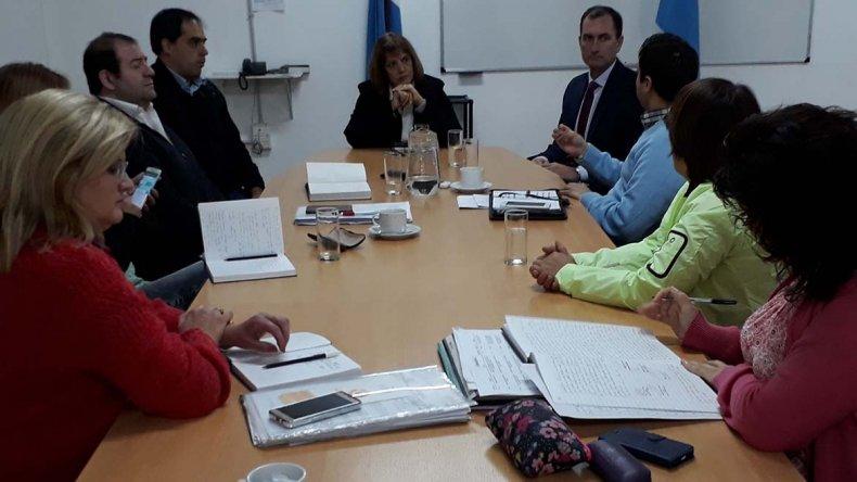 La reunión que los concejales mantuvieron ayer con integrantes de la Cámara Inmobiliaria.
