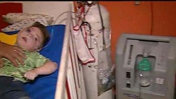 Joaquín es un paciente electrodependiente de 2 años.