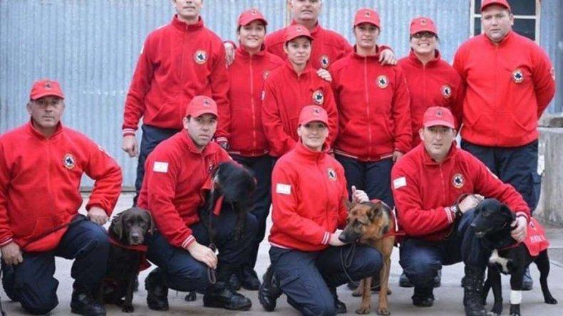La Agrupación K9 de los bomberos de Punta Alta.