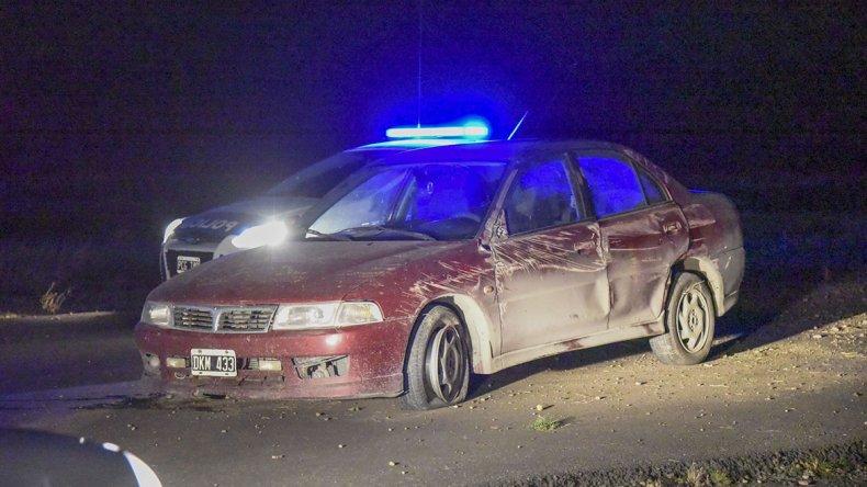 El conductor del Mitsubishi salió ileso. Intervino en el accidente la policía de Rada Tilly.