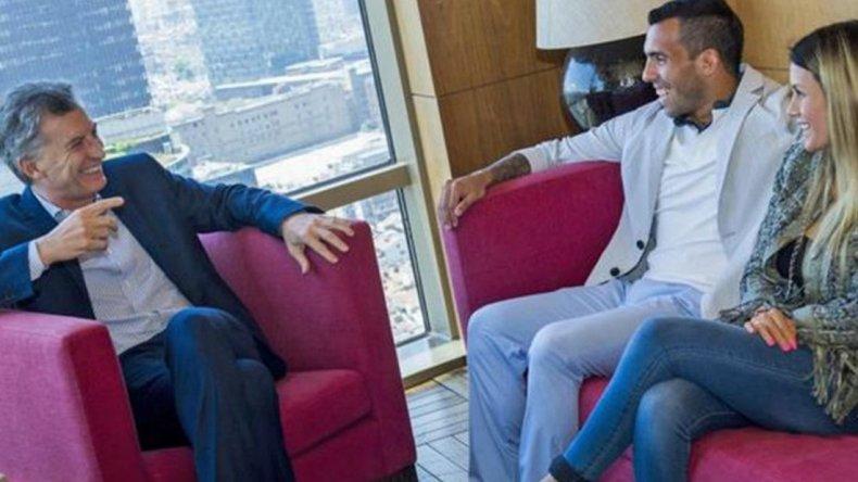 Macri se reunió con Tevez en China