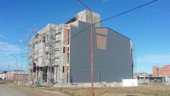 El avance que presenta la construcción de la sede del sindicato en la capital santacruceña.