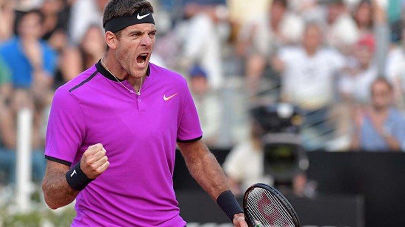 Juan Martín Del Potro se metió en los cuartos de final del Masters 1000 de Roma.