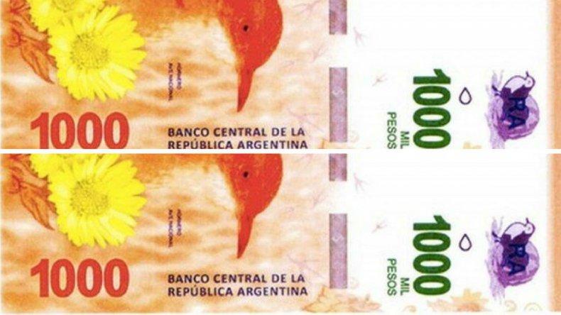 Apuran el lanzamiento del billete de $1000 por la inflación