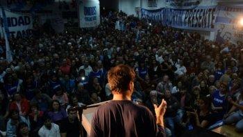 kicillof reunio a cientos de militantes en puerto madryn