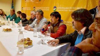 La reunión ampliada de gabinete en la que participaron intendentes y jefes comunales de localidadesde la zona suroeste de Chubut.