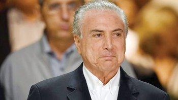 Michel Temer insiste en proclamar su inocencia ante las acusaciones de corrupción.