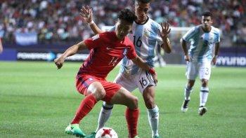 argentina perdio ante corea del sur y quedo cerca de la eliminacion