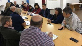 La reunión que se desarrolló ayer en el Concejo Deliberante.